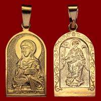 Нательная икона Полина позолота