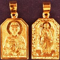Нательная икона Ростислав позолота