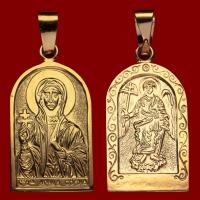 Нательная икона София позолота