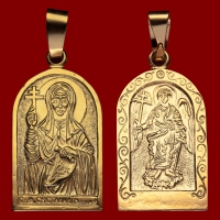 Нательная икона Светлана позолота