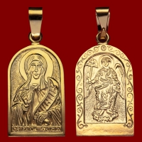 Нательная икона Таисия позолота