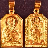 Нательная икона Тарас позолота