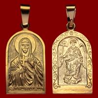 Нательная икона Валентина позолота