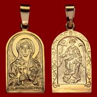 Нательная икона Валерия позолота