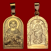 Нательная икона Вера позолота