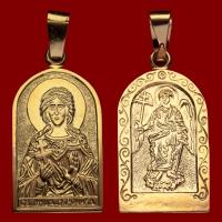 Нательная икона Вероника позолота