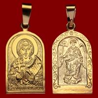 Нательная икона Виктория позолота