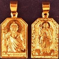 Нательная икона Владимир позолота