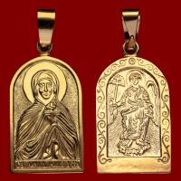 Нательная икона Юлия позолота