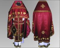 Облачение вышивка Иерейское красное льен парча габардин