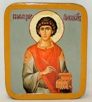 Писанная икона Пантелеймон Целитель в шкатулке