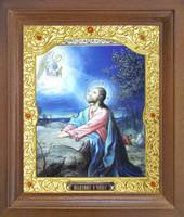 Икона Моление о Чаше 26-П-182 17х20 см деревянный прямой киот, лик 15х18, оклад (риза) золото