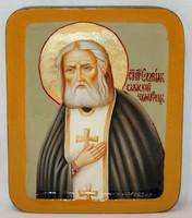 Писанная икона Серафим Саровский в шкатулке