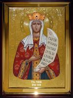 Икона Храмовая полуростовую Елена
