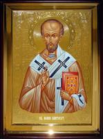 Икона Храмовая полуростовую Иоан Златоуст