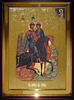Икона Храмовая полуростовую Борис и Глеб