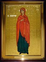 Икона Храмовая полуростовую Валентина рост