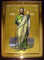 Икона Храмовая полуростовую Иоан Предтеча р