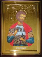 Икона Храмовая полуростовую Иоанн воин