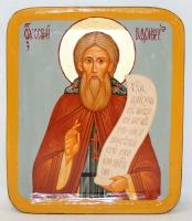 Писанная икона Сергий Радонежский в шкатулке