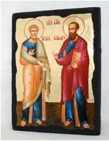 Икона Петр и Павел рост под старину