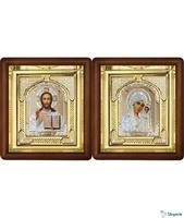 Венчальная пара Икона Спасителя и Казанской Божьей Матери 3-ВП