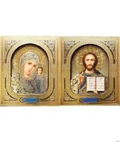 Венчальная пара икон в рамке