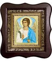 Икона Ангел Хранитель 1012-ФБ-3 17х20 см деревянный фигурный киот, лик 10х12 Тропарь поясной, оклад (риза) золото