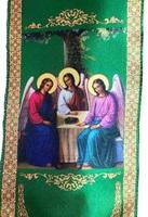 Закладка в Евангелие святая Троица зеленая 002