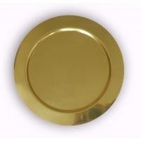 Тарелка средняя золотистая