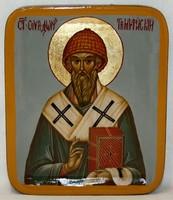 Писанная икона Спиридон Тримифунтский в шкатулке