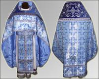 Облачение синие Иерейское льен парча габардин
