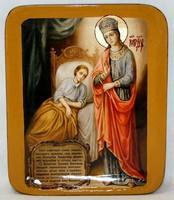 Писанная икона Богородица в шкатулке