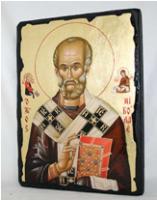 Икона Николай Чудотворец под старину
