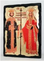 Икона Константин и Елена под старину