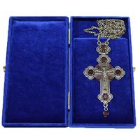 Крест наперсный серебренный МР-КРСВ-02-Г