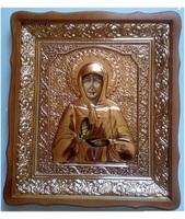 Икона Матрона Московская 4538-Р-3 45х38 см, деревянный фигурный киот, в ризе