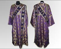 Паламарская риза фиолетовая узор