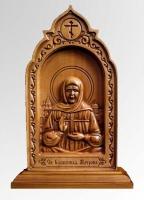 Матрона Московская - Резная деревянная икона