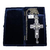 Крест наперсный серебренный МР-КРСВ-08-Л