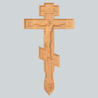 Крест 2 с объемной резьбой берёза
