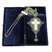 Крест наперсный серебренный МР-КРСВ-05 З