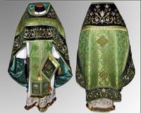 Облачение зеленое Иерейское льен парча габардин русский крой