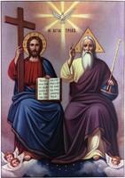 Широкоформатная икона  ПресвятаяТроица