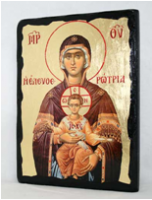 Икона Пресвятая Богородица под старину 003