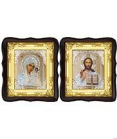 Венчальная пара Икона Спасителя и Казанской Божьей Матери 5-ФТВП-1