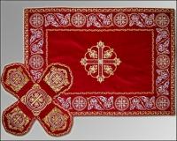 Покровец и воздух красные вышивка