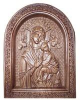 Резная икона Мария с Младенцем