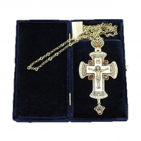 Крест наперсный серебренный МР-КРСВ-09-Г