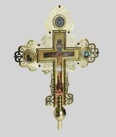 Крест запрестольный латунный 001